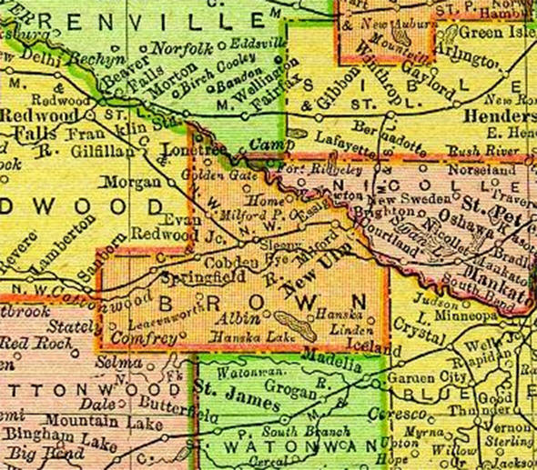 1895 Map of Brown County