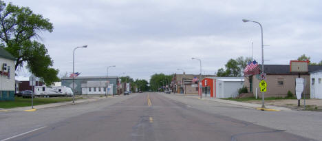 Street scene, Browns Valley Minnesota, 2008