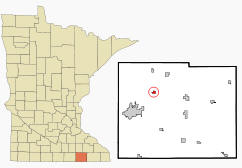 Location of Brownsdale Minnesota