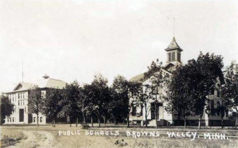 Public Schools, Browns Valley Minnesota, 1920's