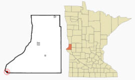 Location of Browns Valley, Minnesota