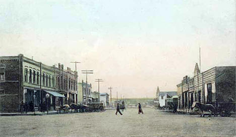Broadway, Browns Valley Minnesota, 1907
