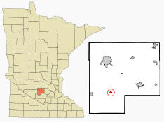 Location of Brownton Minnesota