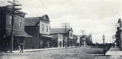 Street View, Brownton Minnesota, 1900's
