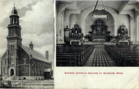 German Catholic Church (now St. Michael), Buckman Minnesota, 1910