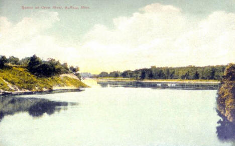 Scene on the Crow River, Buffalo Minnesota, 1911