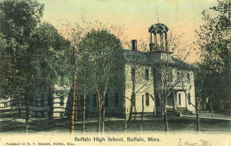 Buffalo High School, Buffalo Minnesota, 1908