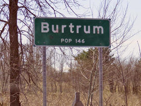 Burtrum Minnesota Population Sign