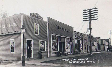 West side of Main Street, Butterfield Minnesota, 1919