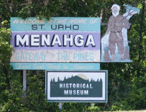 Welcome to Menagha Minnesota Sign
