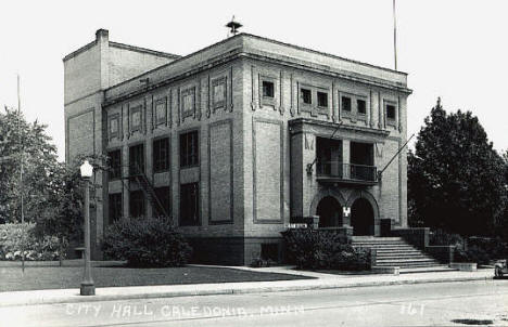 City Hall, Caledonia Minnesota, 1950's