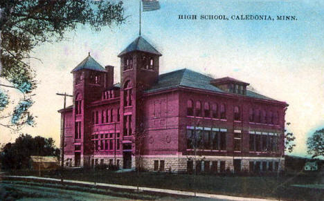 High School, Caledonia Minnesota, 1914