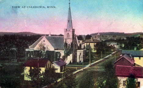 View of Caledonia Minnesota, 1914