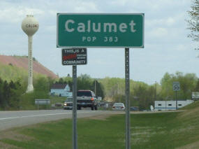 Calumet Sign and Water Tower, Calumet Minnesota