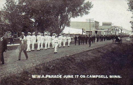 Parade, Campbell Minnesota, 1909
