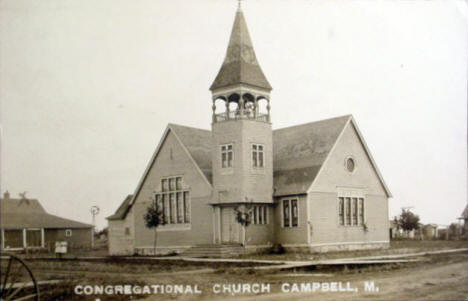Congregational Church, Campbell Minnesota, 1918