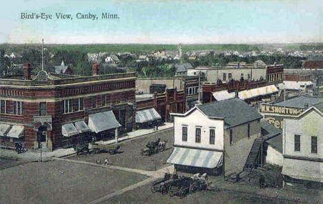 Birds eye view, Canby Minnesota, 1908