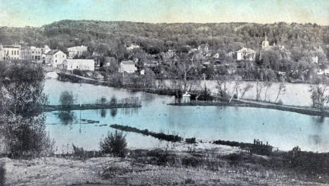 Dike and Mill Pond, Cannon Falls Minnesota, 1916