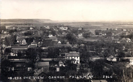 Birds eye view, Cannon Falls Minnesota, 1910's