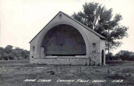 Band Stand, Cannon Falls Minnesota, 1940's