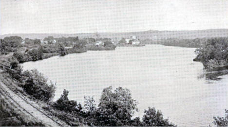 Scene on the Cannon River, Cannon Falls Minnesota, 1908