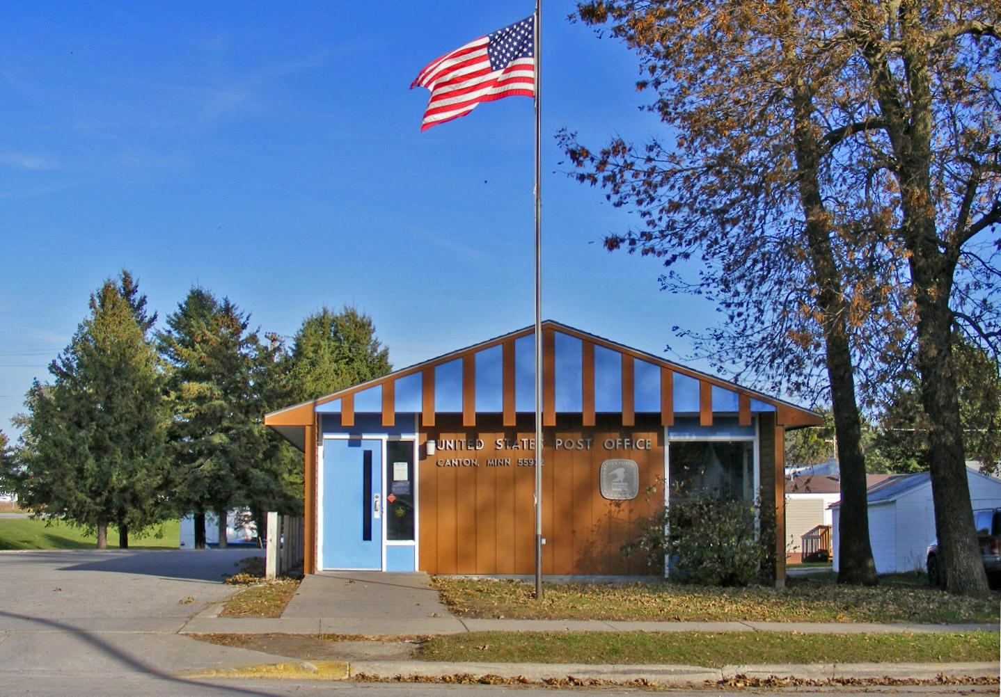 ... US Post Office, Canton Minnesota