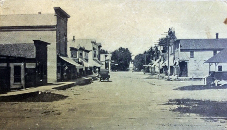 Main Street looking north, Canton Minnesota, 1915