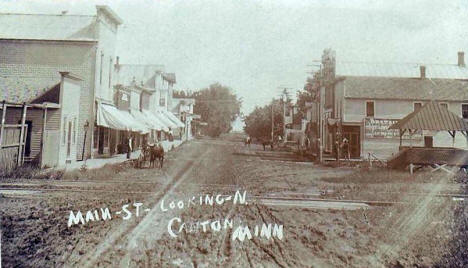 Main Street looking north, Canton Minnesota, 1900's
