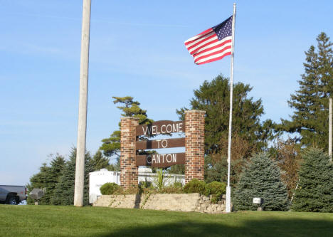 Welcome sign, Canton Minnesota, 2009