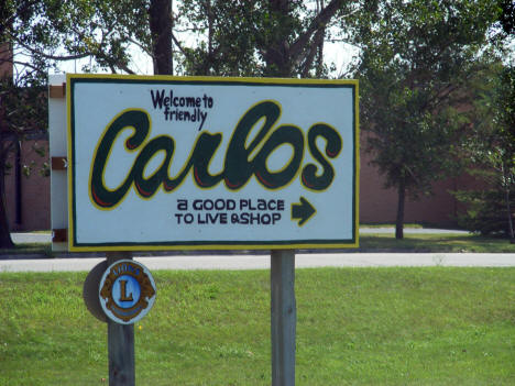 Carlos Minnesota Welcome Sign, 2008