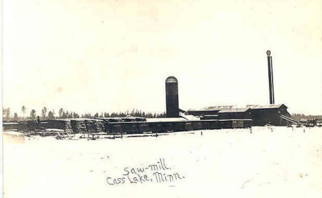 Saw Mill, Cass Lake Minnesota, 1910's