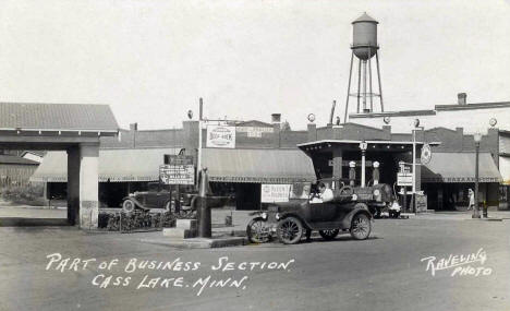 Business District, Cass Lake Minnesota, 1920's