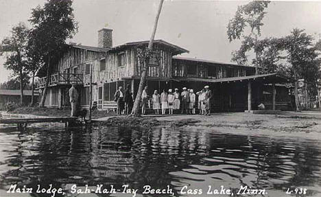 Main Lodge, Sah-Kay-Tay Beach, Cass Lake Minnesota, 1925