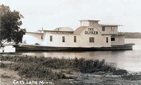 "Boat ""The Glyken"" on Cass Lake, 1940"