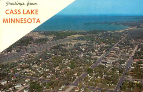Aerial View, Cass Lake Minnesota, 1967