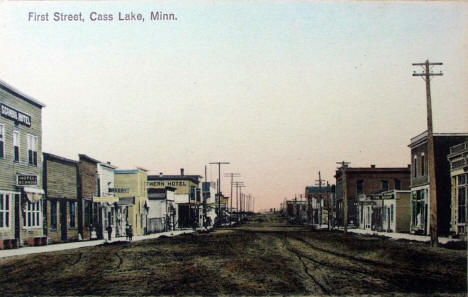 First Street, Cass Lake Minnesota, 1910's