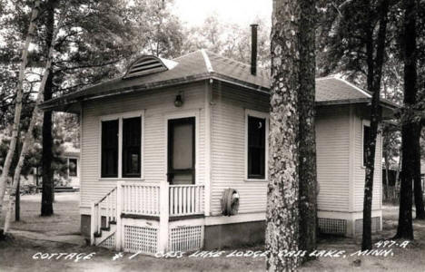 Cottage #1, Cass Lake Lodge, Cass Lake Minnesota, 1940's
