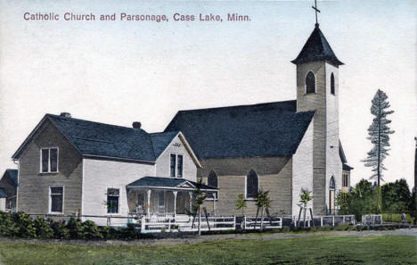 Catholic Church and Parsonage, Cass Lake Minnesota, 1911