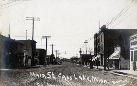 Main Street, Cass Lake Minnesota, 1910's
