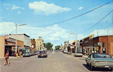 Downtown Cass Lake Minnesota, 1960's