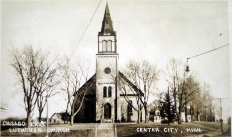 Chisago Lake Lutheran Church, Center City Minnesota, 1920's?
