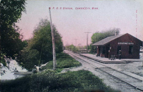Northern Pacific Railroad Station, Center City Minnesota, 1910's