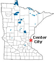 Location of Center City Minnesota