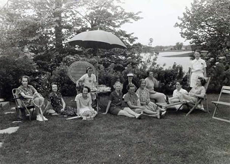 Town Tennis Club outing at Hazeldon Farms, Center City Minnesota, 1936