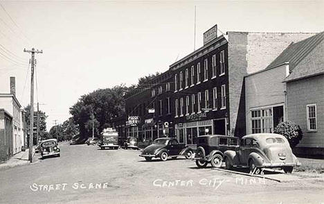 Street scene, Center City Minnesota, 1946