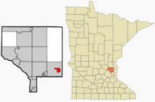 Location of Centerville, Minnesota
