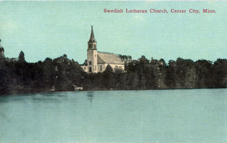 Swedish Lutheran Church, Center City Minnesota, 1910's?