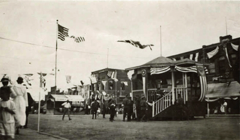 Celebration for returning World War I soldiers, Ceylon, Minnesota, 1918