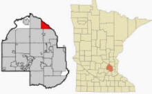 Location of Champlin Minnesota