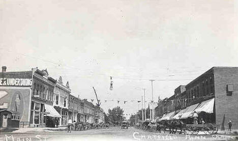 Main Street, Chatfield Minnesota, 1900's